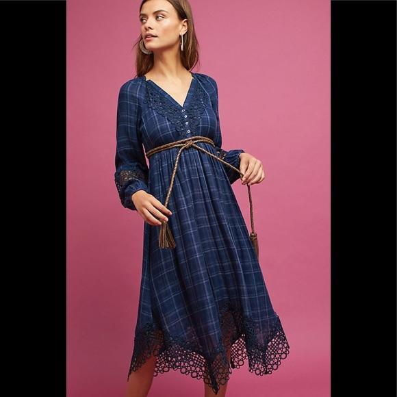 Anthropologie Dresses & Skirts - Anthropologie Akemi + Kin Plaid Kerchief Dress